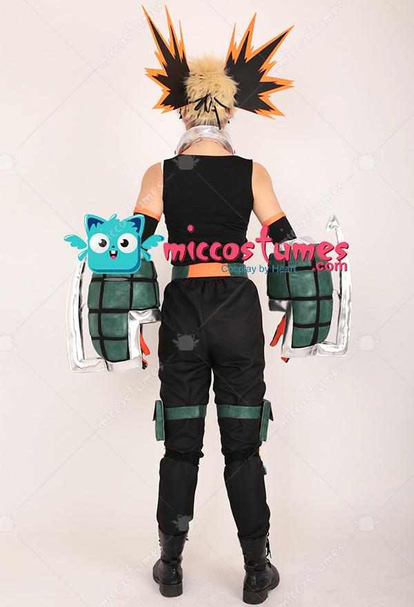 My Hero Academia Katsuki Bakugou Kacchan Cosplay Costume Fullset Hero Costume Battle Suit With Mask And Gauntlets