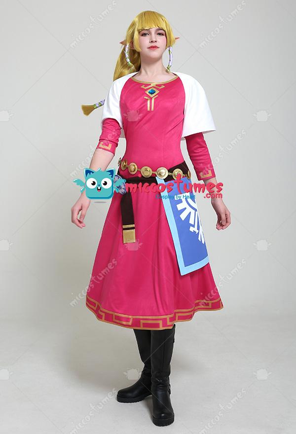 The Legend Of Zelda Skyward Sword Princess Zelda Cosplay Costume Dress