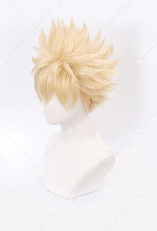 My Hero Academia Bakugou Katsuki Light Flax Cosplay Wig
