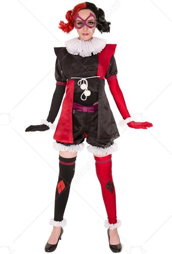 supervillain harley quinn cosplay kostum overall inspiriert von batman ninja fertigung nach auftrag