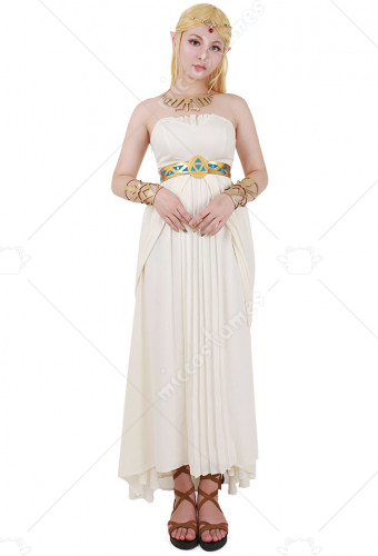 The Legend of Zelda: Breath of the Wild Princess Zelda weiß Kleid ...