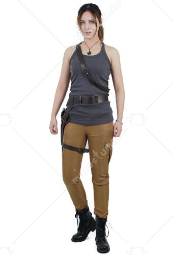 Tomb Raider Lara Croft Cosplay Kostüm Weste Mit Gürtel Set