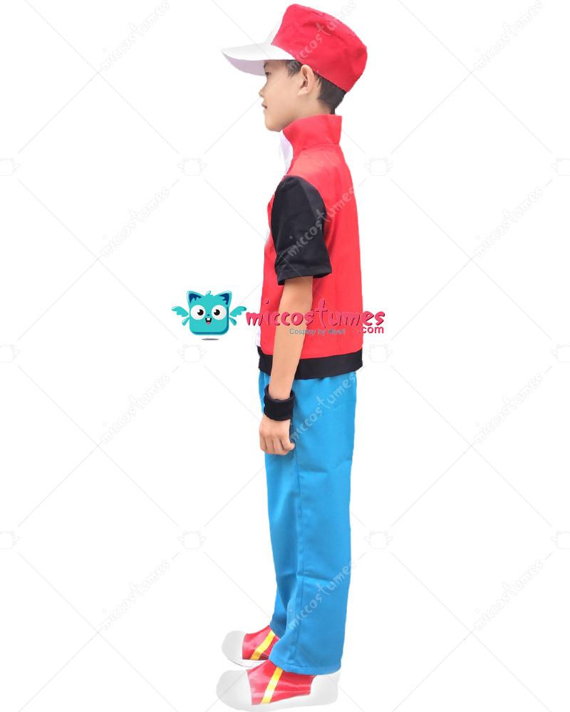 pokemon ash rot kind cosplay kost m f r verkauf. Black Bedroom Furniture Sets. Home Design Ideas