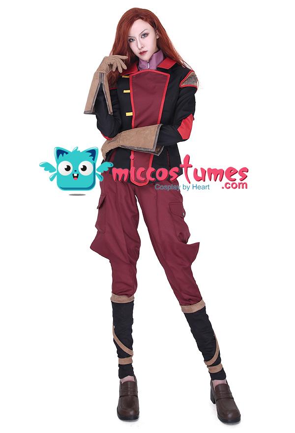 avatar the legend of korra asami sato uniform cosplay kost m. Black Bedroom Furniture Sets. Home Design Ideas
