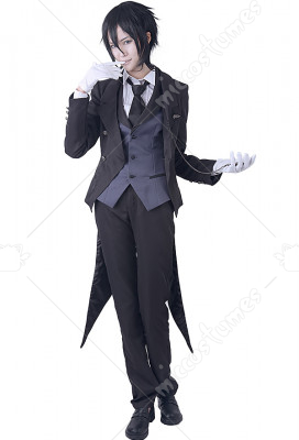 Black Butler Kuroshitsuji Ciel Sebastian Chaussures en toile Noir
