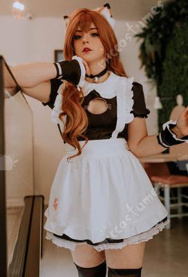 Style japonais Maiden Mignon Chat Maid costume femme uniforme de maillot de bain COS envoyer Queue