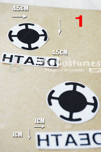Cosplay accessoires one piece accessoires home cosplay for One piece law tattoos