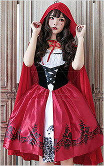 Halloween Cosplay Little Red Riding Hood Cosplay Vampire Witch Princess Dress