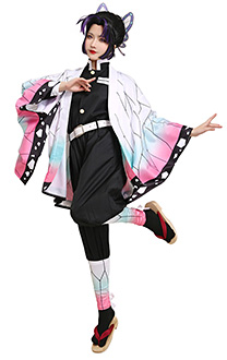 Demon Slayer Kimetsu no Yaiba Insect Pillar Shinobu Kocho Demon Slaying Corps Dämonenjäger Uniform Cosplay Kostüm