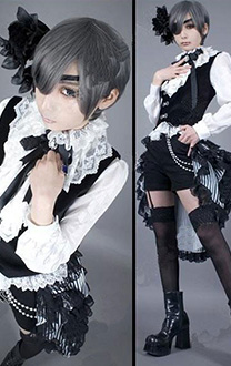 Black Butler Cosplay Ciel Cosplay Circus Black Lily Costume