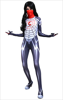 3D Printed Silk Cindy Moon Cosplay Costume Jumpsuit Bodysuit Zentai Suit