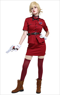 Hellsing Seras Victoria Burgundy Red Cosplay Costume Vampire Demon Uniform