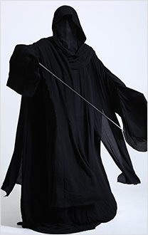 Dark side Witch King Black Robes Cloak Cosplay Costume Halloween Adult Hood