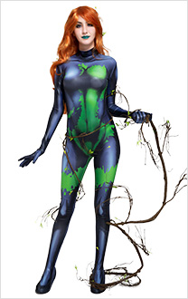 Poison Plantgirl Plant Toxins Cosplay Costume Jumpsuit 3D Printed Zentai for Halloween