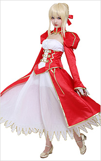 Fate/EXTRA Fate Grand Order FGO Nero Saber Claudius Princess Cosplay Costume Dress