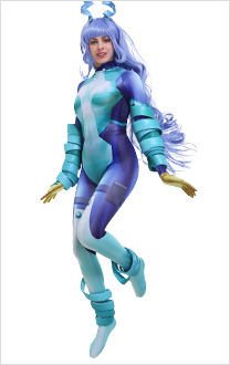 My Hero Academia Costume de Cosplay Big 3 Nejire Hado Combinaison 3D Impression