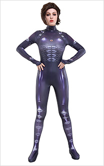3D Printed Resident Evil Retribution Moive Alice Cosplay Costume Bodysuit Jumpsuit