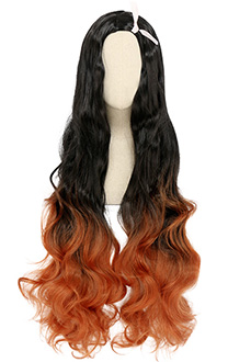 Demon Slayer Kimetsu no Yaiba Nezuko Kamado Gradient Mixed Color Cosplay Wig