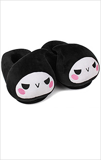 Overwatch Reaper Q Version Warm Slippers New Year Birthday Gift for Kids
