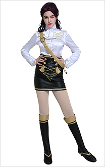 Fire Emblem Three Houses Costume de Cosplay Petra Uniforme Scolaire de Black Eagles
