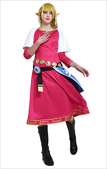 The Legend of Zelda Skyward Sword Costume de Cosplay Princesse Zelda Robe