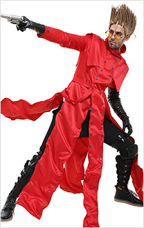 Trigun Costume de Cosplay Vash the Stampede Cache-poussière Rouge