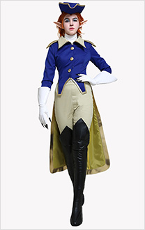 Treasure Planet Captain Amelia Cosplay Costume Set with Hat