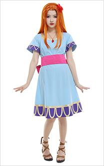 The Legend of Zelda Links Awakening Costume de Cosplay Marin Robe