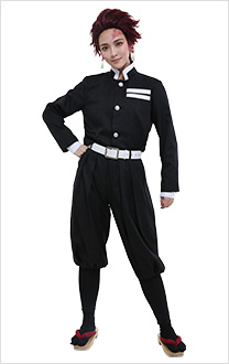 Kimetsu no Yaiba Demon Slayer Corps Pillar Tanjirou Giyuu Zenitsu Kyoujurou Kochou Shinobu Black Uniform Cosplay Costume