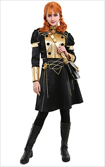 Fire Emblem Three Houses Blue Lions House Annette Fantine Dominic Officers Academy Female Uniform Cosplay Costume with Bag