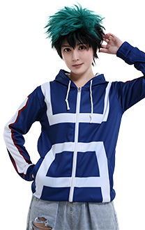 My Hero Academia Costume Daily 3D Printing Hoodie Zip Up Sportswear
