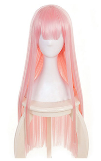 DARLING in the FRANXX Zero Two Code 002 Rosa Cosplay Perücke
