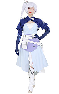 RWBY 7 Weiss Schnee Dress Costume with Belt Set