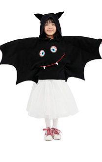 Halloween Bat Girl Costume Hooded Cloak for Kids