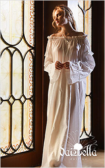 Sweet Dreams: Cotton-Linen Blended Off Shoulder Medieval Chemise