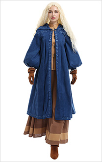 The Witcher Feuilleton Costume de Cosplay Ciri Costume Set Rétro Médiéval