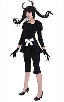 Black Rock Shooter Dead Master Cosplay Costume Dress Set