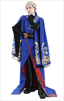 Twisted-Wonderland Vil Schoenheit Pomefiore Uniform Cosplay Costume Outfit Long Robe Set