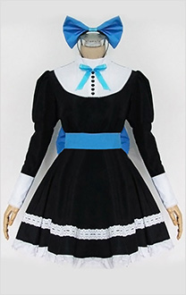 Panty & Stocking with Garterbelt Stocking Anarchy Schwarz Lolita Cosplay Kostüm Kleid