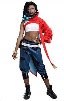 LOL League of Legends True Damage Senna Damen Hip-hop Cool Cosplay Kostüm Outfit