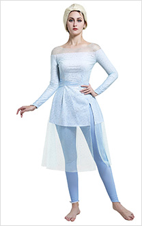 Princess Elsa Cosplay Costume Fancy Shining White and Purple Off the Shoulder Dress with Pants
