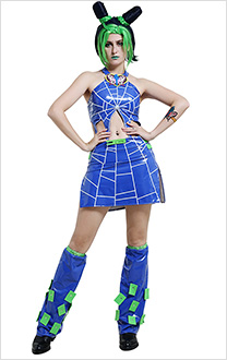 JoJos Bizarre Adventure Stone Ocean Jolyne Cujoh Dress Cosplay Costume with Handcuff