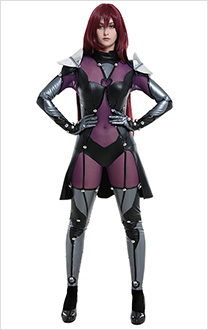 Fate Grand Order FGO Lancer Scáthach Bodysuit Cosplay Costume with Shoulder Accessories