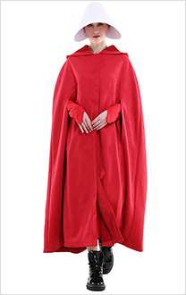 The Handmaid's Tale Offred Christian Snow Fabric Cloak and Dress Fullset Halloween Cosplay Costume