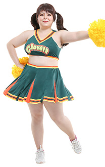 Übergröße Girls United Cheerleader Curvy Cosplay Kostüm