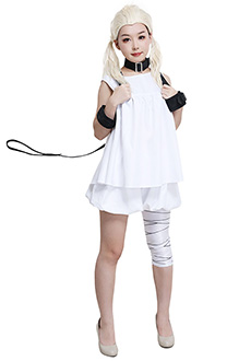 NieR Reincarnation Series White Girls Sleeveless Dress Cosplay Costume Woman Full Set with Bloomers and Belt Groups
