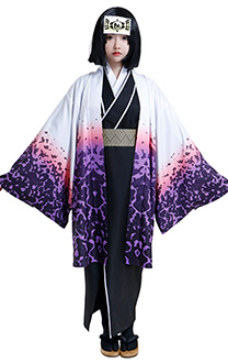 Demon Slayer Kimetsu no Yaiba Demon Slayer Corps Kiriya Ubuyashik Japanese Women Kimono Cosplay Costume Outfit with Pink and Purple Flower Pattern Kaori and Belt