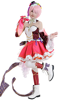 Re: Zero Starting Life in Another World Ram Cute Elegant Idol Singer Colorful Full Set Cosplay Costume with Headdresses