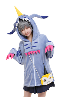 Digital Monsters Digimon Costume de Cosplay Gabumon Veste à Capuche avec Sac