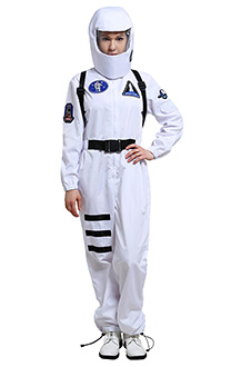 Among Us Crewmate Spaceship Rocket Pattern Print Sports Style Flimsy Spacesuit Bodysuit Jumpsuit Cosplay Costume Outfits with Sapling-Decorated Headgear and Backpack